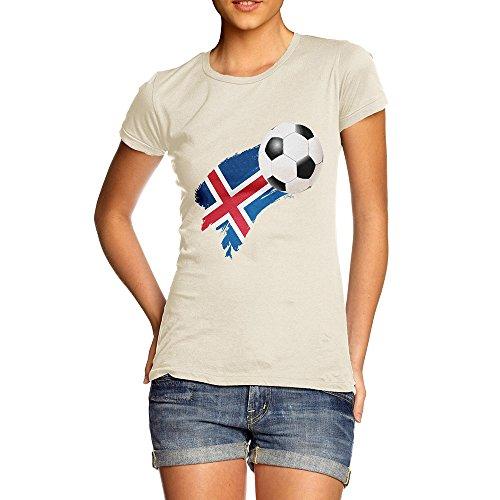 TWISTED ENVY Novelty Gifts for Women Iceland Football Soccer Flag Paint Splat