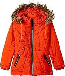 Fort Collins Girls Regular Fit Jacket (10210_Orange_26 (6 - 7 years))