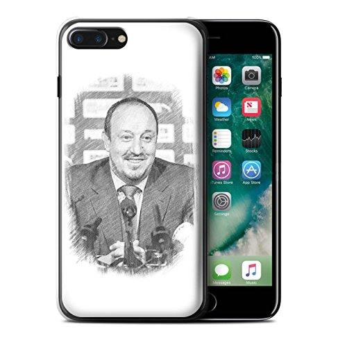 Officiel Newcastle United FC Coque / Etui pour Apple iPhone 7 Plus / Rester Calme Design / NUFC Rafa Benítez Collection Croquis