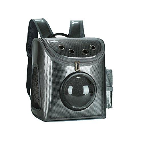 Aqi7 zaino per cani pet trasportabile, traspirante e confortevole, zaino da viaggio, borsa per gatti e cani,black
