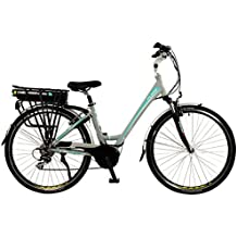 Flare Womens Lightweight Low Step Aluminium 700C Mid Drive Electric Hybrid City Bike