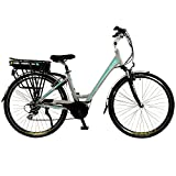 Flare Womens Lightweight Low Step Aluminium 700C Mid Drive Electric Hybrid City Bike