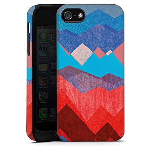 Apple iPhone X Silikon Hülle Case Schutzhülle Berge Muster Sonne Tough Case matt