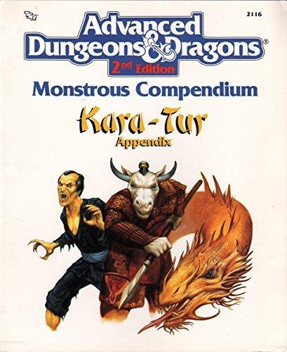 Monstrous Compendium: Kara-Tur Appendix (Advanced Dungeons & Dragons) by Tsr Staff (1990-07-02) par Tsr Staff