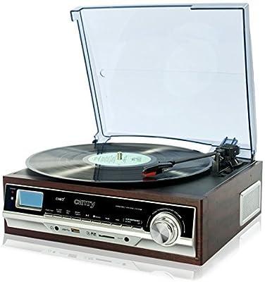 Camry CR 1114Tocadiscos con MP3/USB/SD y función de grabación Multicolor