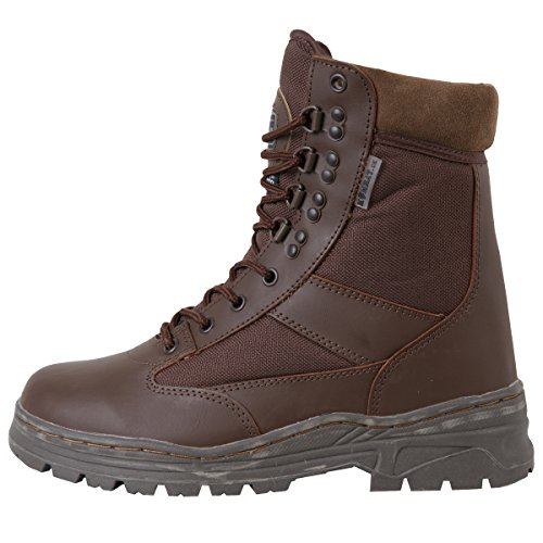 Kombat Uk Uomo Mezza Pelle / Mezzo Cordura Patrol Boots Brown - Mod Brown