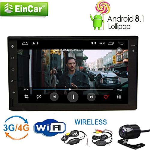 Android 8.1 Oreo voiture automobile Radio Audio stéréo double Din 7inch écran tactile autoradios Bluetooth Dans Dash support GPS Autoradio Navigation BT SWC CAM-IN USB SD OBD2 1080P Wifi 4G / 3G