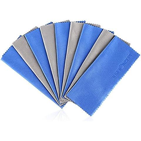 K&F Concept - 10 Piezas Paños de Limpieza Microfibras Limpiador de Pantalla para Canon Nikon Sony DSLR Cámaras iPad iPhone Tableta Móvil Pantalla LCD 15 x 18 cm