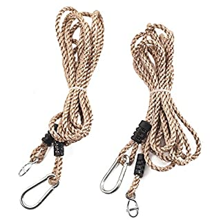 Tree Swing Conversion Ropes Complete Kit with Galvanised Steel Fixings Choice of 2 Lengths (5.5m Pair of Ropes)
