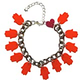 Sour Cherry Hamsa Bracelet (Red)