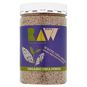 Raw Health Organic White Chia Seeds, 450g