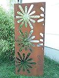 Garten Sichtschutz aus Metall Rost Gartenzaun Gartendeko edelrost Sichtschutzwand PF0013 125*50*2CM