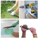 Edelstahl-Arbeitshandschuhe, Drahtgitter-Handschuhe, resistent durch Level 5-Schnittschutz, vielseitig verwendbar, für Küche, Werkstatt, Garten, Garage