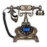 Landline Antikes Telefon europäischen pastoralen Retro-Wohnzimmer Schlafzimmer Festnetz 25 * 17 * 24cm (um die Telefonleitung zu beantworten) (Farbe : B)