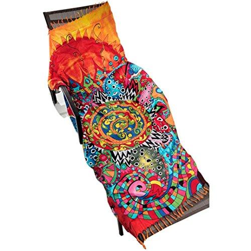 Xinan Strand Wurf Roundie Mandala Handtuch Yoga-Matte (90*145CM)