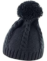 Result Winter Essentials Pom Pom Beanie, Black