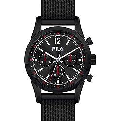 Fila Uhr Men's Watch Multi Function (820003Stainless Steel/Black