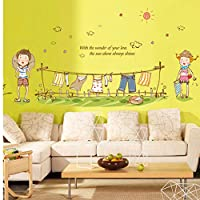 LGDB Wall Sticker little boy and little girl clothes children room household adornment wall stickers in the wall to stick on the wall