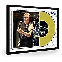 Malcolm Young ACDC (1) Framed Goldene Schallplatte Display Premium Edition (O)