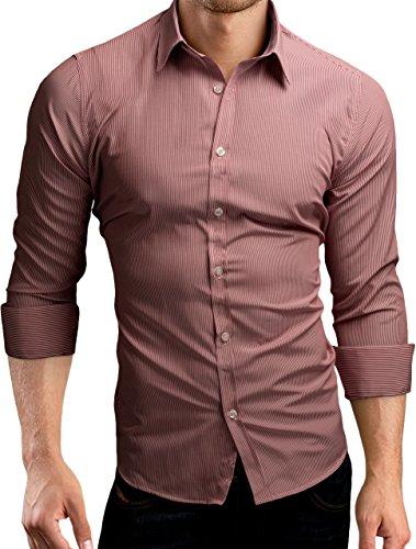 fbcb754668f90b Grin Bear Slim Fit Shirt Hemd Herrenhemd Doppel Kontrast Knopfleiste