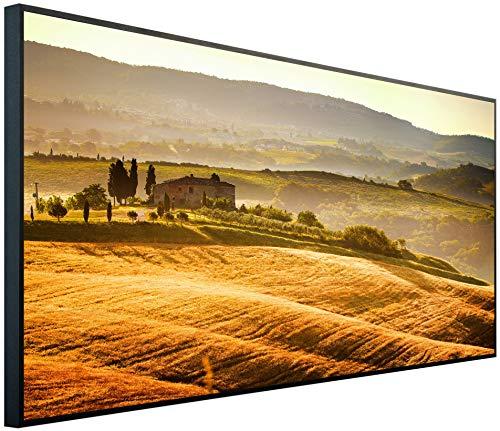 InfrarotPro - Calefacción por Infrarrojos (750 W, resolución Ultra HD, B11: Paisaje Toscana, 120 x 60 x 3 cm)