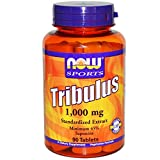 Now Foods Tribulus, 1000mg - 90 tablets Natural Testosterone Booster by Now Foods