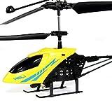 Kinder Spielzeug RC 901 2CH Mini RC Hubschrauber Radio Fernbedienung Flugzeug Micro 2 Kanal (Yellow)