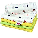 Babymajawelt10018 Mullwindeln Spucktücher 5er Pack, 70 x 80 cm, bunt - 2