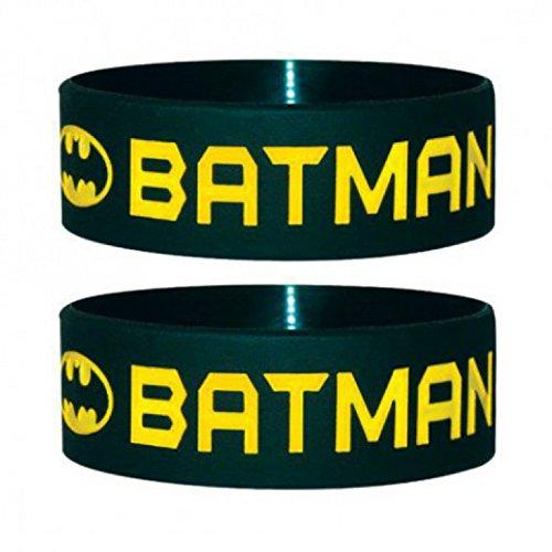 Batman - Text And Logo Braccialetto, Diametro: 65mm, Larghezza: 24mm, Spessore: 1mm taglia adattabile (6 x 2cm)