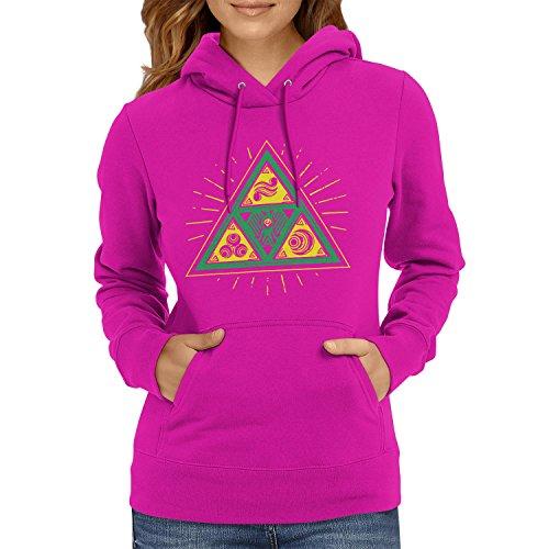 TEXLAB - Triforce Triangle - Damen Kapuzenpullover, Größe L, (Zelda Kostüme Ideen)