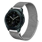 Fintie Armband für Galaxy Watch 42mm & Gear Sport & Gear S2 Classic - Edelstahl Milanese Magnet UhrBand Uhrenarmband Ersatzband, Sliber