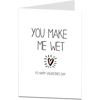 Rude Dirty Valentines Card For Him Naughty Valentine Day Message Perfect Husband Boyfriend Or Fiance