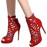 Onsoyours Sexy High Heels für Damen Neue Sommersandalen mit Fischmaul Gefrostete Stiletto-Sandalen mit Offenem Zeh und…