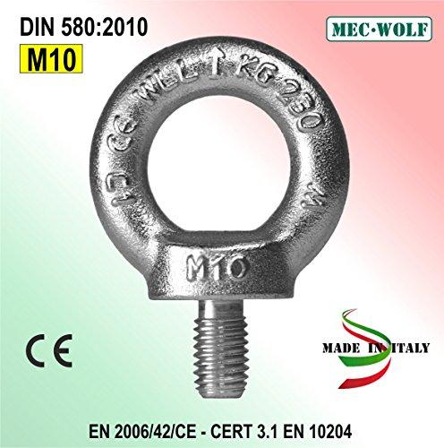 Golfari maschi M.10 zincati in acciaio C15E+Al (CONFEZIONE DA 100 PEZZI)