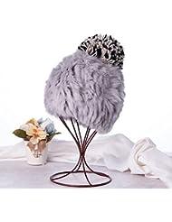 Qiaoba- Mlle élégant automne et hiver Sweater tricot chapeau chapeau en paille