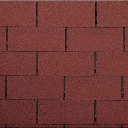 2m² Dachschindel Rechteckform 14 Stück ziegelrot Dach Bitumen Schindeln rot Ziegel Abdichtung
