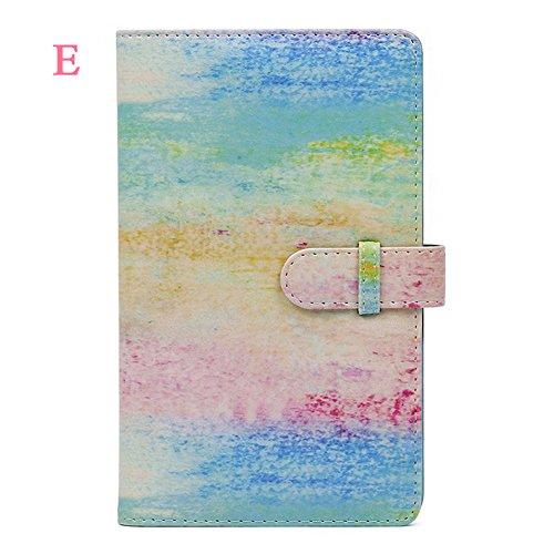 Fotoalbum, 96 Taschen PU-Leder-sofortiges Foto-Album-Bild-Kasten für Fujifilm Instax Mini 8/9 / 7s / 7C / 25/70/90 3 Zoll Minifilm-Foto-Album (Leder-foto-speicher-box)