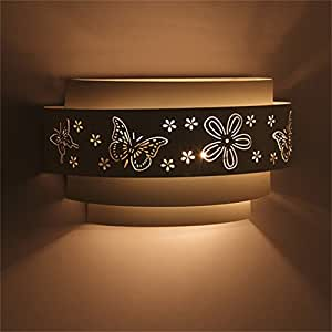Wall Light,BEIYI Wall Lamp 1 Light Spraying E27 Max 50w Up and Down Wall Lighting for Living Room and Bedroom(White)