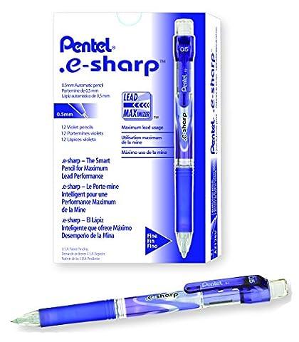 Pentel e-sharp Automatic Pencil, 0.5mm, Violet Accents, Box of 12 (AZ125V)