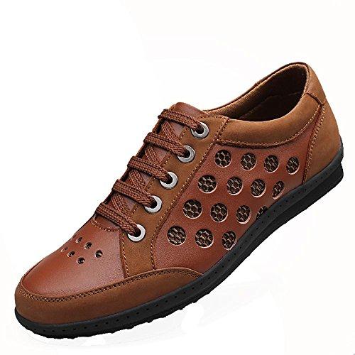 SONGYUNYANHerren Outdoor Leisure-Suit-Luftdurchlässigkeit von England schneiden Fashion Sneaker Bootsschuh Brown