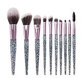 LIZIWEI 10 Make-Up Pinsel Sandy Make-Up Pinsel Set Gesicht Auge Professionelle Makeup Tools Make-Up Kit