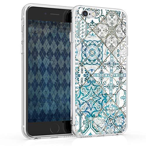 kwmobile Apple iPhone 6 / 6S Hülle - Handyhülle für Apple iPhone 6 / 6S - Handy Case in Blau Grau Weiß -