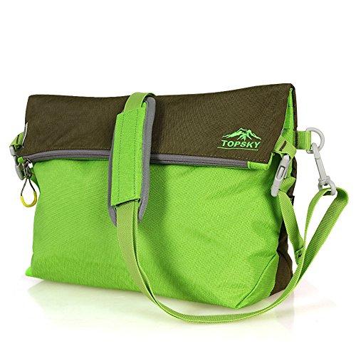 Borsa a tracolla allaperto/Borsa Messenger sport/Coppia tempo libero viaggio Zaini/Tote bag-arancione verde