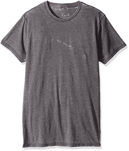 Jack Of All Trades Herren T-Shirt Burnout Crew Neck - Silber - Klein -