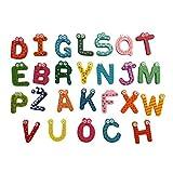 Juguete del bebé, RETUROM Imán de madera de dibujos animados de 26 letras bebé juguete del bebé del juguete educativo