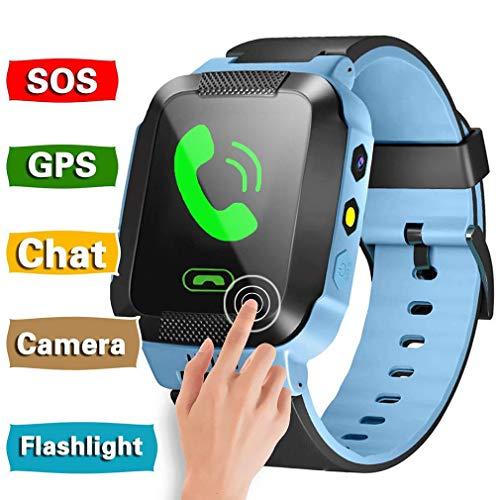 Kinder GPS LBS Smartwatch für Kinder, 1.44 Zoll Smart Uhr Handgelenkart Touchscreen-Uhr, SOS Smartwatch mit Ortung, Armband Fuer Kinder Kids Geschenk Kinderuhr