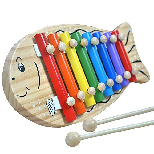 HshDUti Fisch Form 8 Tasten Xylophon Percussion Handschlag Klavier Kinder Musikspielzeug Multi