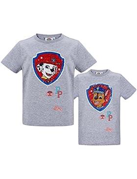 Paw Patrol Chicos Camiseta Manga Corta - Gris