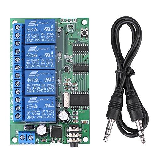 AD22B04 12V 4 Kanal DTMF Tonsignal Decoder Relay Telefon Fernbedienung PLC -