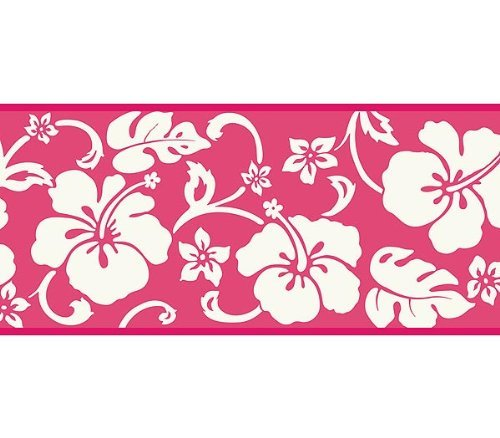 igner Hawaiian White Hibiscus on Pink by Chesapeake ()